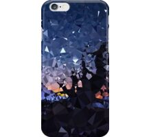 Low Poly Mountain Night Scene iPhone Case/Skin
