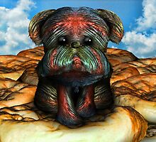 Human Scalp Pup on Rising Bread by GolemAura