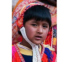 Young Incan Boy Photographic Print