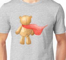 Watercolor Super Teddy Illustration Unisex T-Shirt