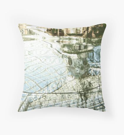 City in the Water Throw Pillow