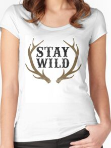 Stay Wild Women's Fitted Scoop T-Shirt