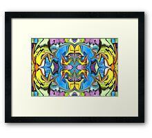 Abstract Watercolour Framed Print