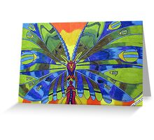 276 - BUTTERFLY DESIGN - DAVE EDWARDS - COLOURED PENCILS, ACRYLIC & FINELINERS - 2009 Greeting Card