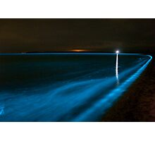 Bioluminescence on the Beach Photographic Print
