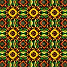 Tribal Visions Geometric Abstract Pattern 4 by Leah McNeir