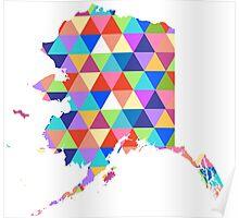 Alaska Colorful Hipster Geometric Triangles Poster