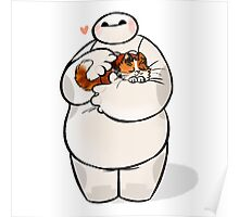 love cat baymax Poster