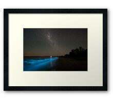 Bioluminescence in the Waves Framed Print