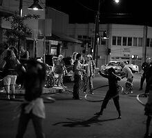 Wailuku town Friday night by Jack Grace