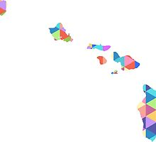 Hawaii Colorful Hipster Geometric Triangles Honolulu by CorrieJacobs