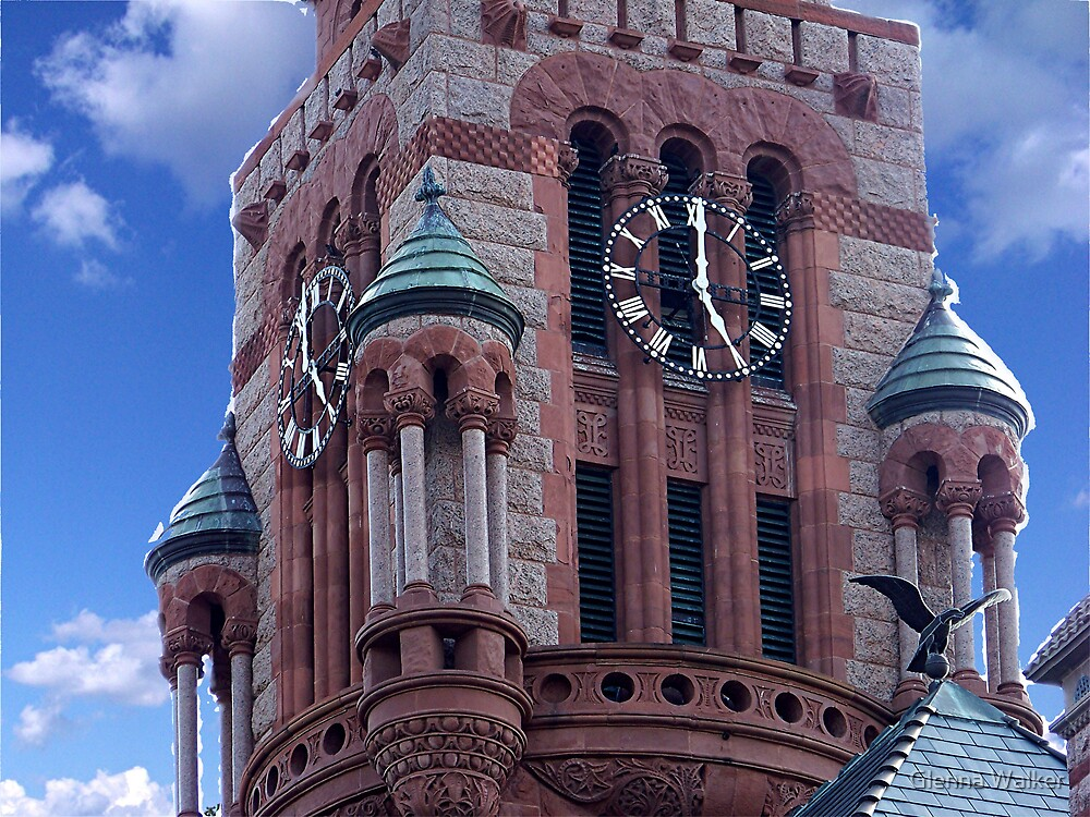 Ellis County Courthouse Clock Tower by Glenna Walker