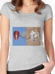 Fall and Spring Women's Fitted Scoop T-Shirt