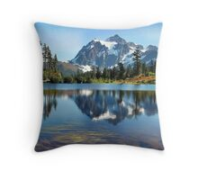 Picture Lake @ Mt Shuksan, Washington State Throw Pillow