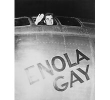 Paul Tibbets In The Enola Gay Bomber Photographic Print