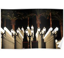 Palm Trees and Lamp Posts Poster