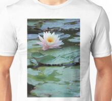 Water Lily Surrounded by Lily Pads Unisex T-Shirt