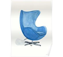The Egg Chair - Watercolor Painting Poster