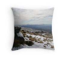 Old Woman Range across to Southern Alps Throw Pillow