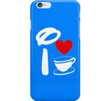 I Heart Tea Cups (Inverted)  iPhone Case/Skin
