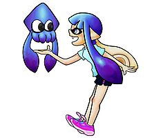 Squid and Inkling Photographic Print