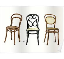 Thonet Chairs - Watercolor Painting Poster