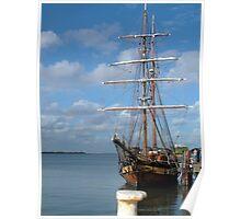 Tall Ship Newcastle Harbour NSW Australia Poster