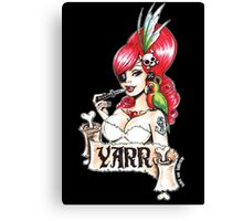 Pirate pinup 'Yarr!' Canvas Print
