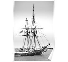 Sailboat Docked in Cleveland Harbor  Poster