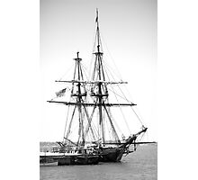 Sailboat Docked in Cleveland Harbor  Photographic Print
