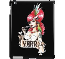 Pirate pinup Yarr me hearties! iPad Case/Skin