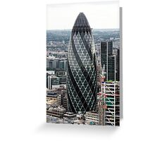 The Gherkin (30 St. Mary Axe), London, United Kingdom Greeting Card
