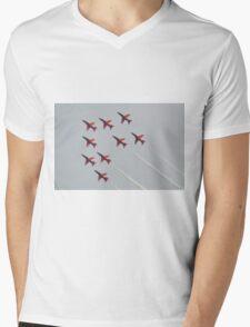Red Arrows Chevron Formation Mens V-Neck T-Shirt