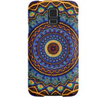 Kaleidoscope 4 abstract stained glass mandala pattern Samsung Galaxy Case/Skin