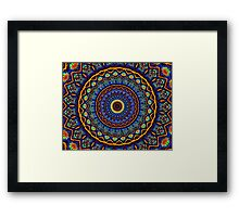 Kaleidoscope 4 abstract stained glass mandala pattern Framed Print