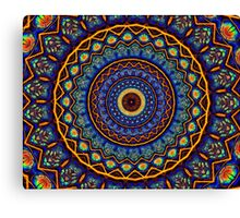 Kaleidoscope 4 abstract stained glass mandala pattern Canvas Print