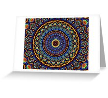 Kaleidoscope 4 abstract stained glass mandala pattern Greeting Card