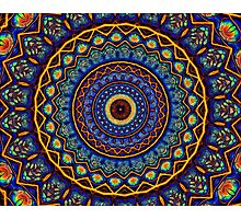 Kaleidoscope 4 abstract stained glass mandala pattern Photographic Print