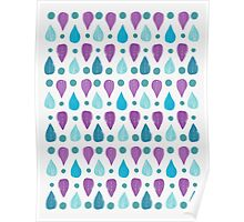 Teardrop Feather Pattern Poster