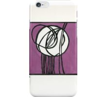Rosebud Glass Panel by Charles Rennie Mackintosh - Watercolor Pa iPhone Case/Skin