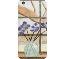 Window On A Rainy Day - Watercolor Painting iPhone Case/Skin