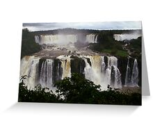 Iguassu Falls - Brazilian vista Greeting Card