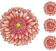 Red flowers by lisenok