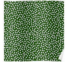 Classic baby polka dots in dark green. Poster