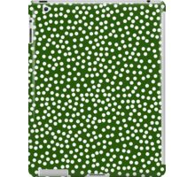Classic baby polka dots in dark green. iPad Case/Skin