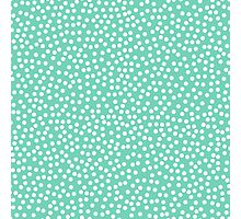 Classic baby polka dots in blue green. Photographic Print