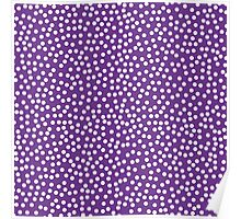 Classic baby polka dots in purple violet. Poster
