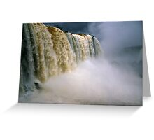 Iguassu Falls - Devil's throat - Brazilian side Greeting Card