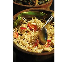 Bean Sprouts with Fried Bean Curd Salad Photographic Print