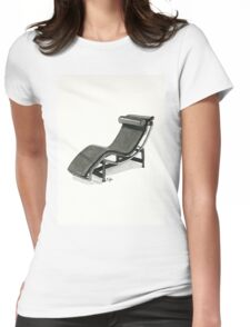 LC4 Chaise Longue - Watercolor painting  Womens Fitted T-Shirt